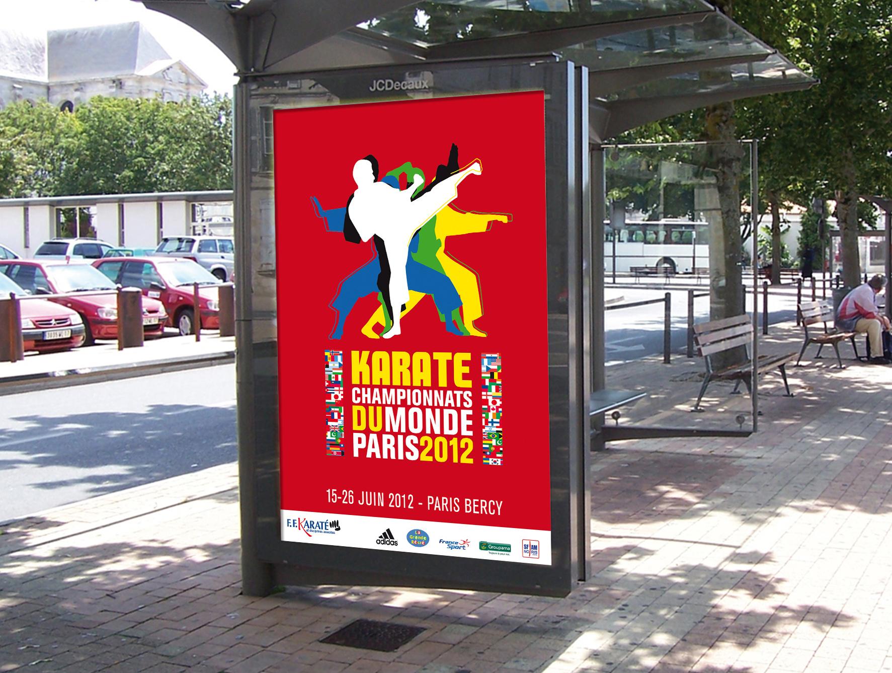 Affiche Championnats du Monde de Karaté sur abribus