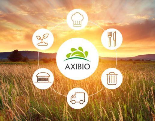 Logo Axibio sur fond nature