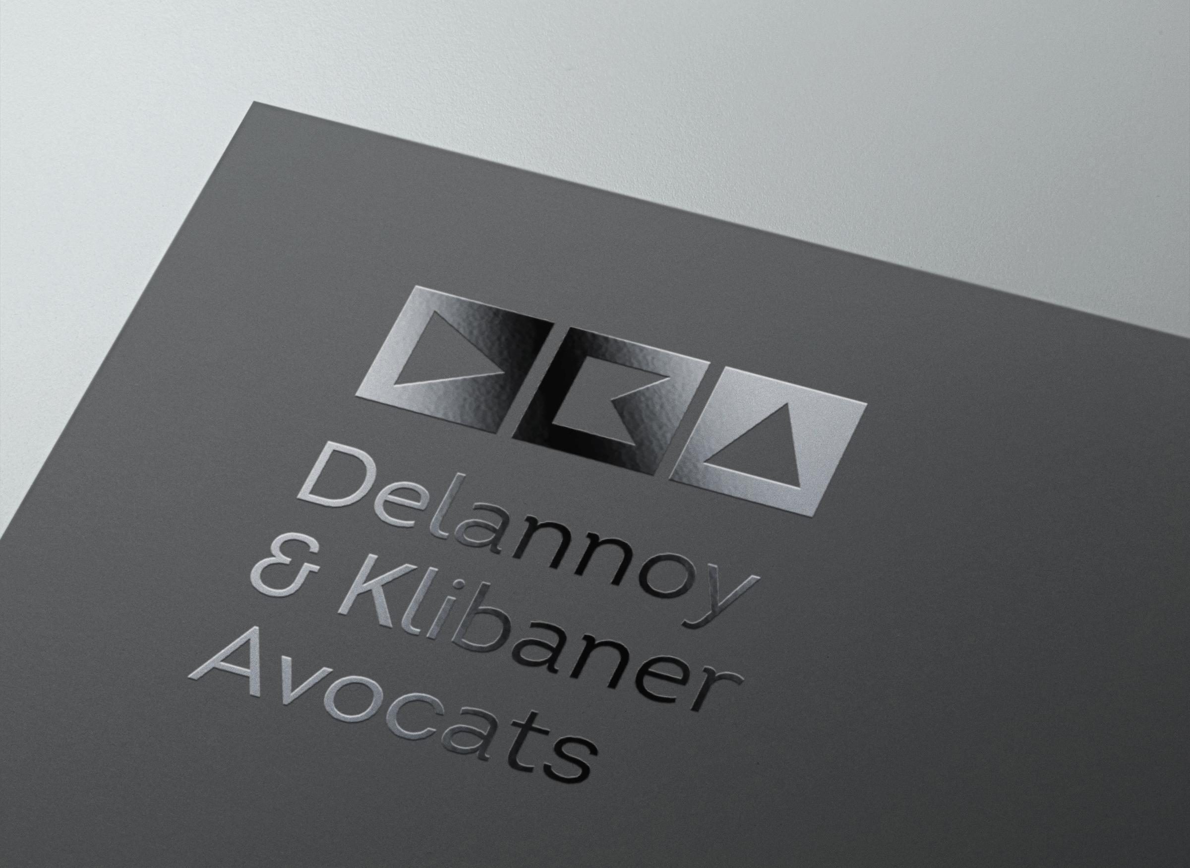 Logo imprimé Delannoy & Klibaner Avocats