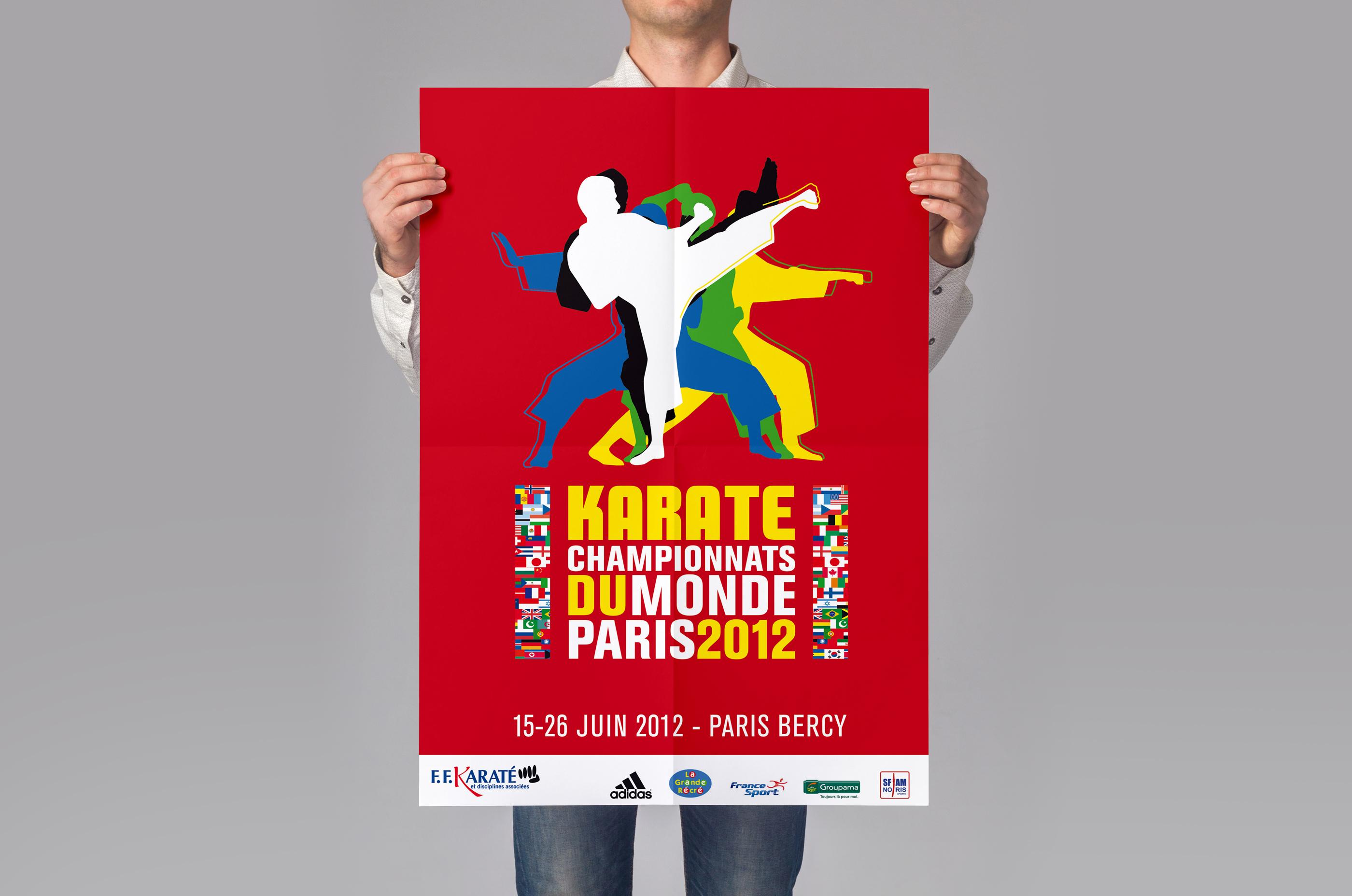 Simulation affiche championnats du Monde de Karaté