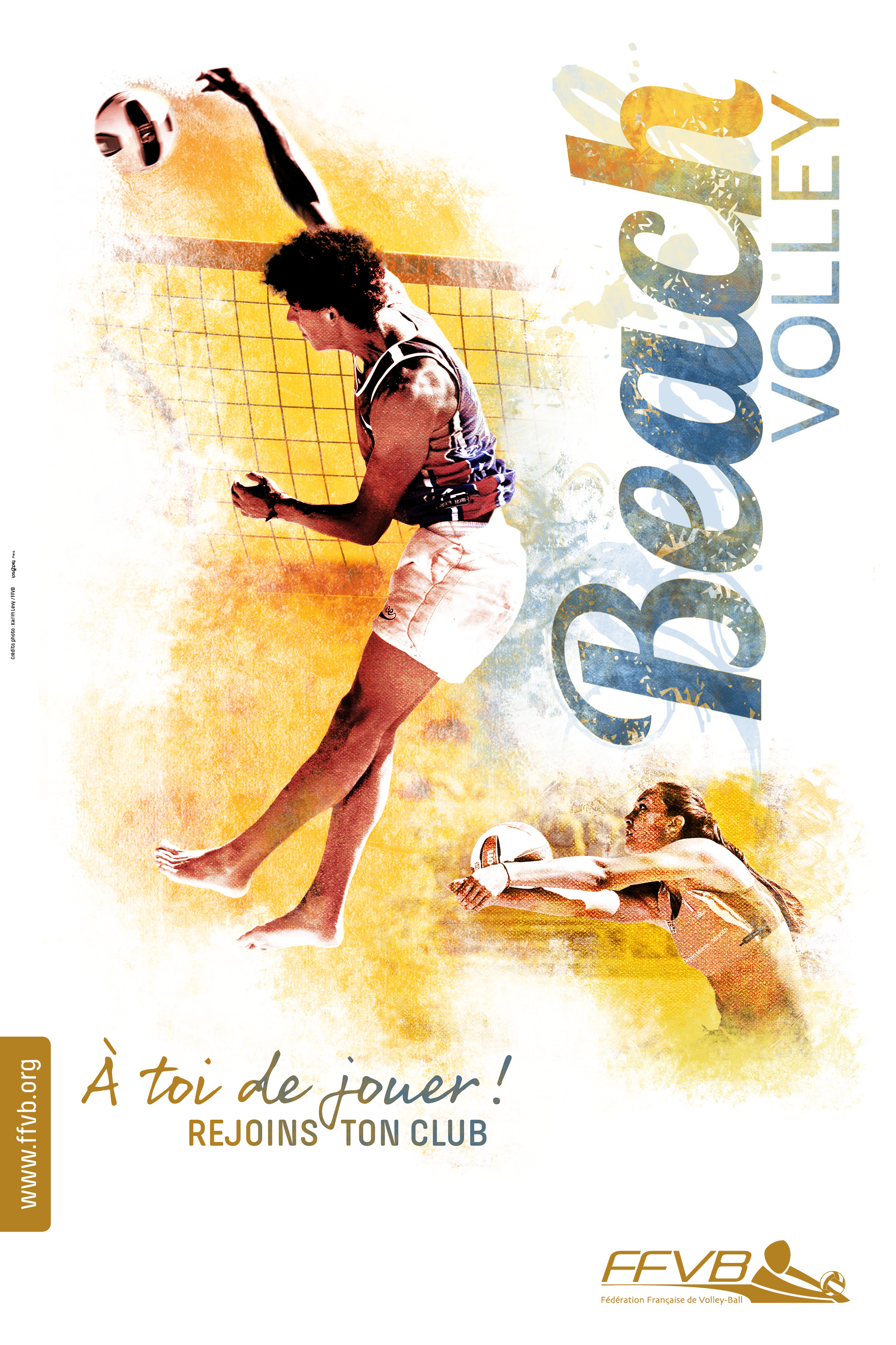 FFVolley-Campagne affiches rentrée clubs beach