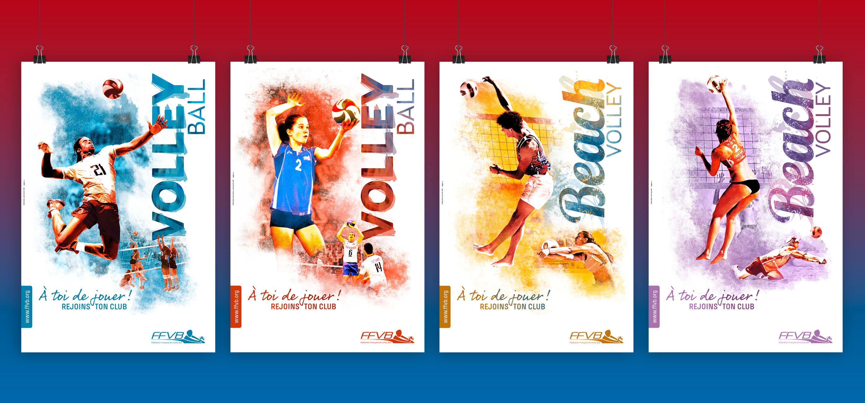 FFVolley-Campagne 4 affiches rentrée clubs