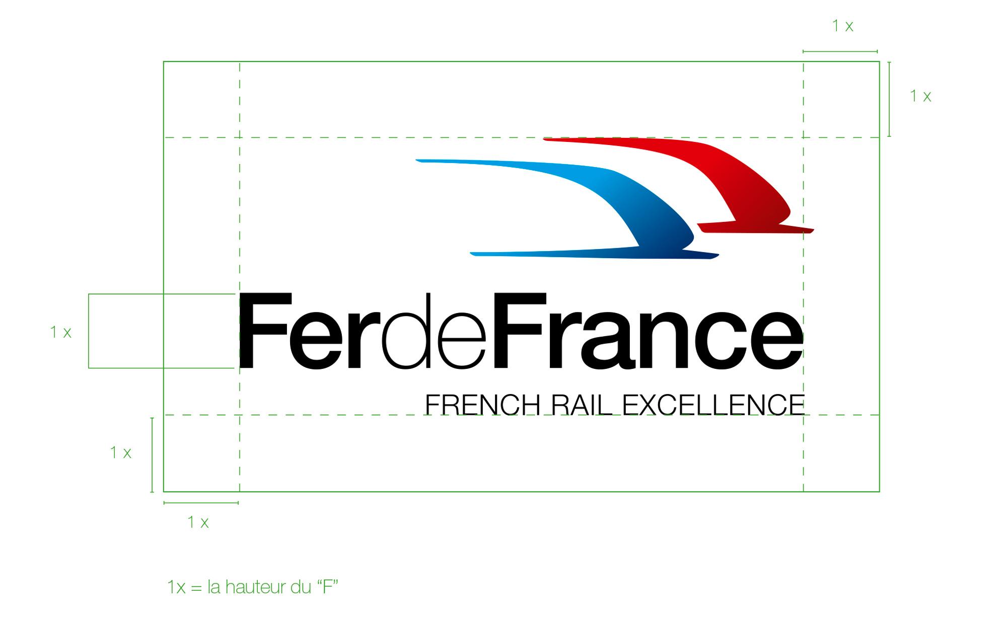 Périmètre de sécurité du logo Fer de France