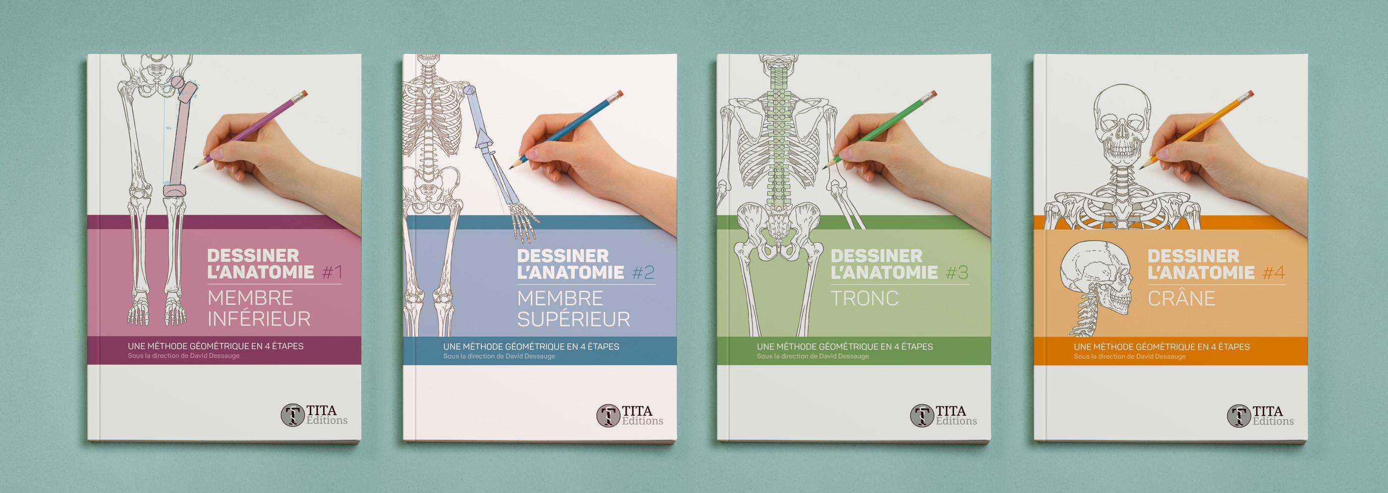Collection dessiner l'anatomie Tita Éditions
