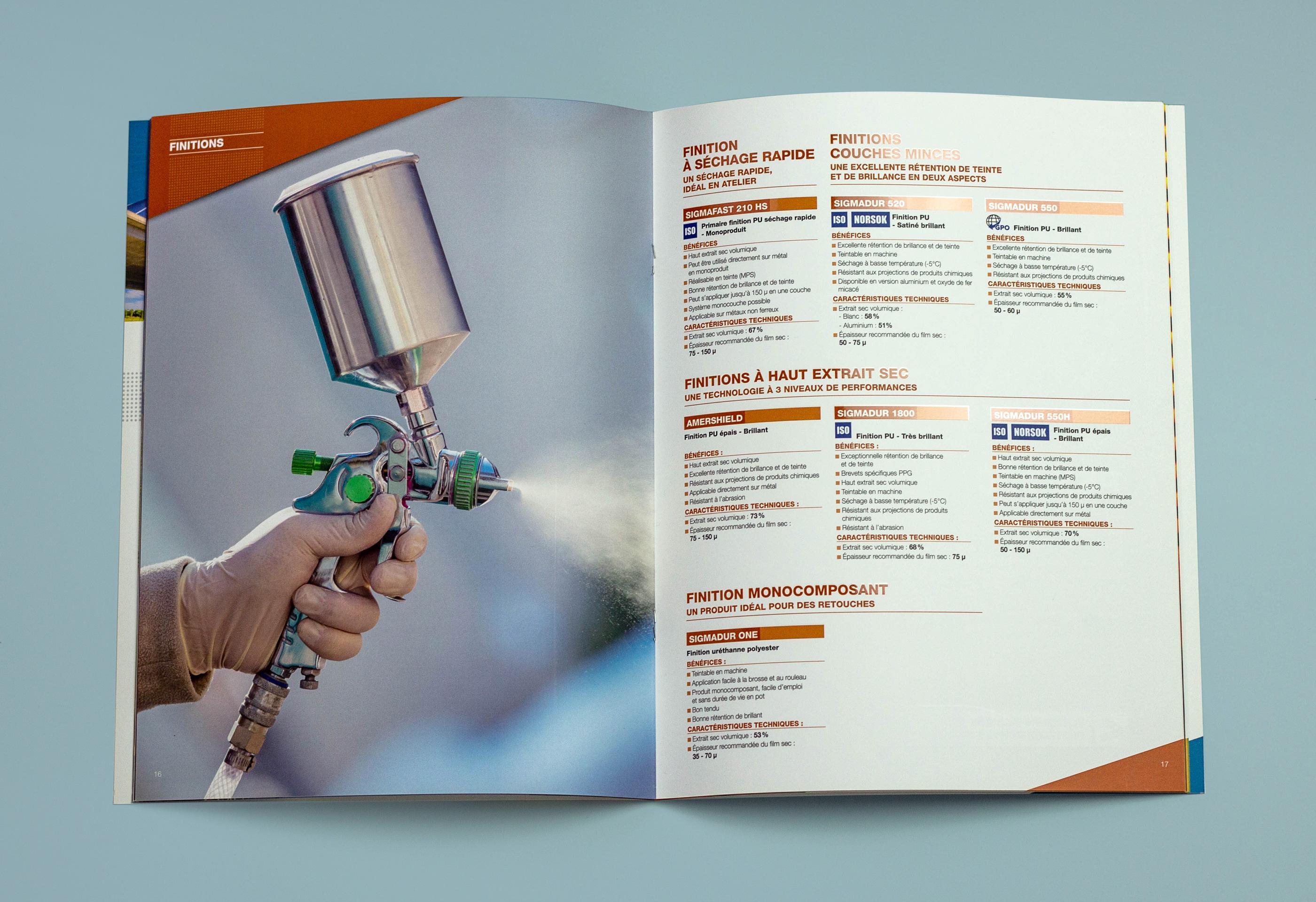 Photo d'une double page de la brochure OEM Freitag