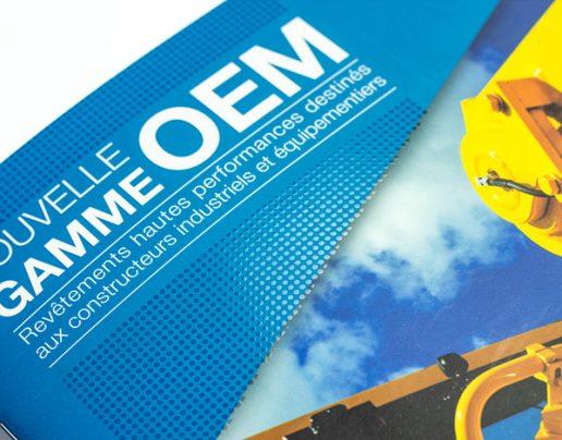 Photo de détails de fabrication vernis sélectif de la brochure OEM Freitag
