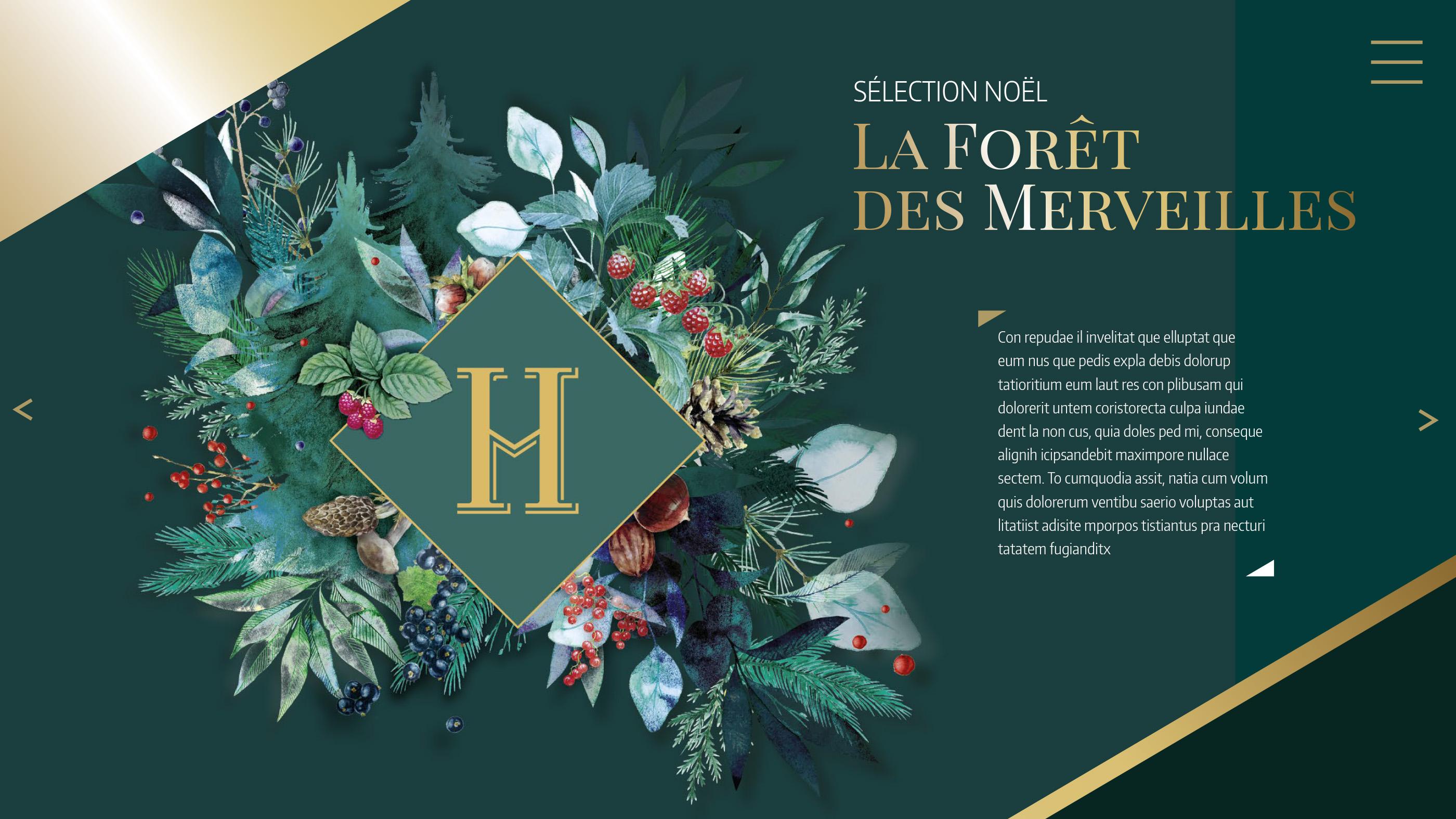 Ouverture Forêt des Merveilles Hédiard catalogue cadeaux entreprises