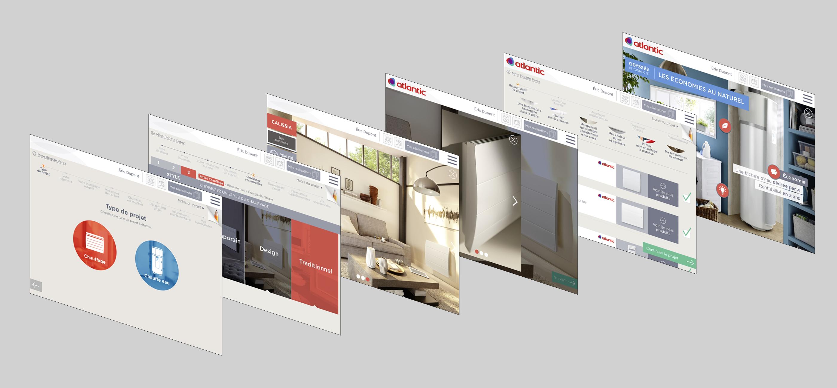 Atlantic application digitale installateurs écrans