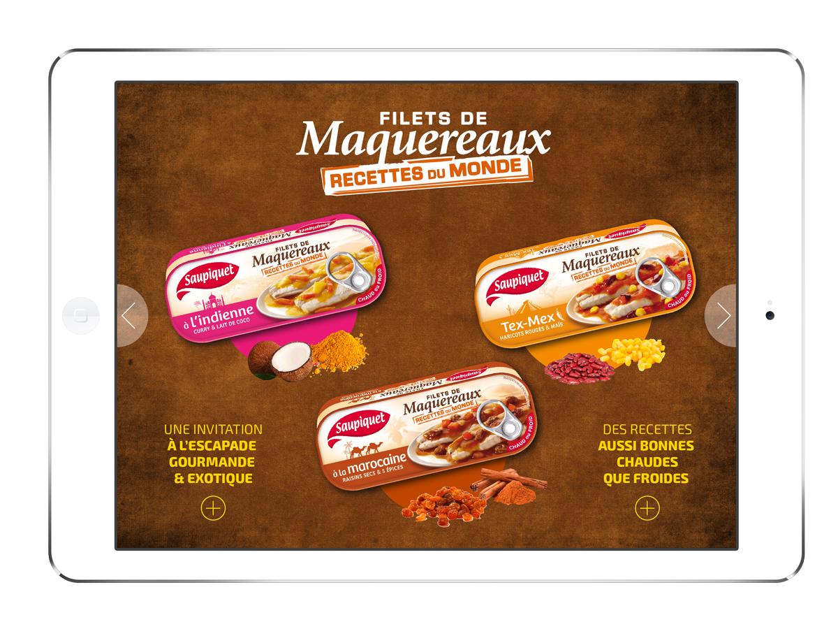Saupiquet application digitale screen Maquereaux