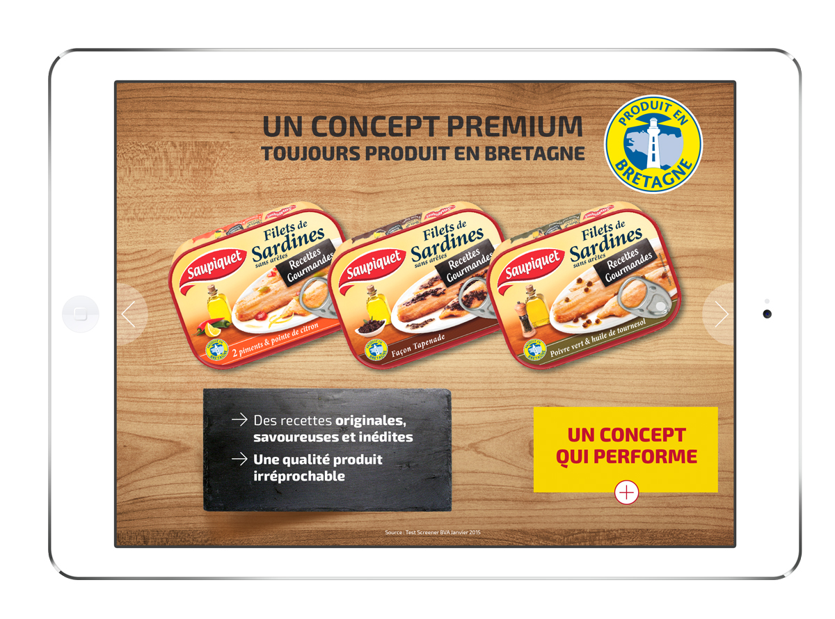 Saupiquet application digitale screen Bretagne