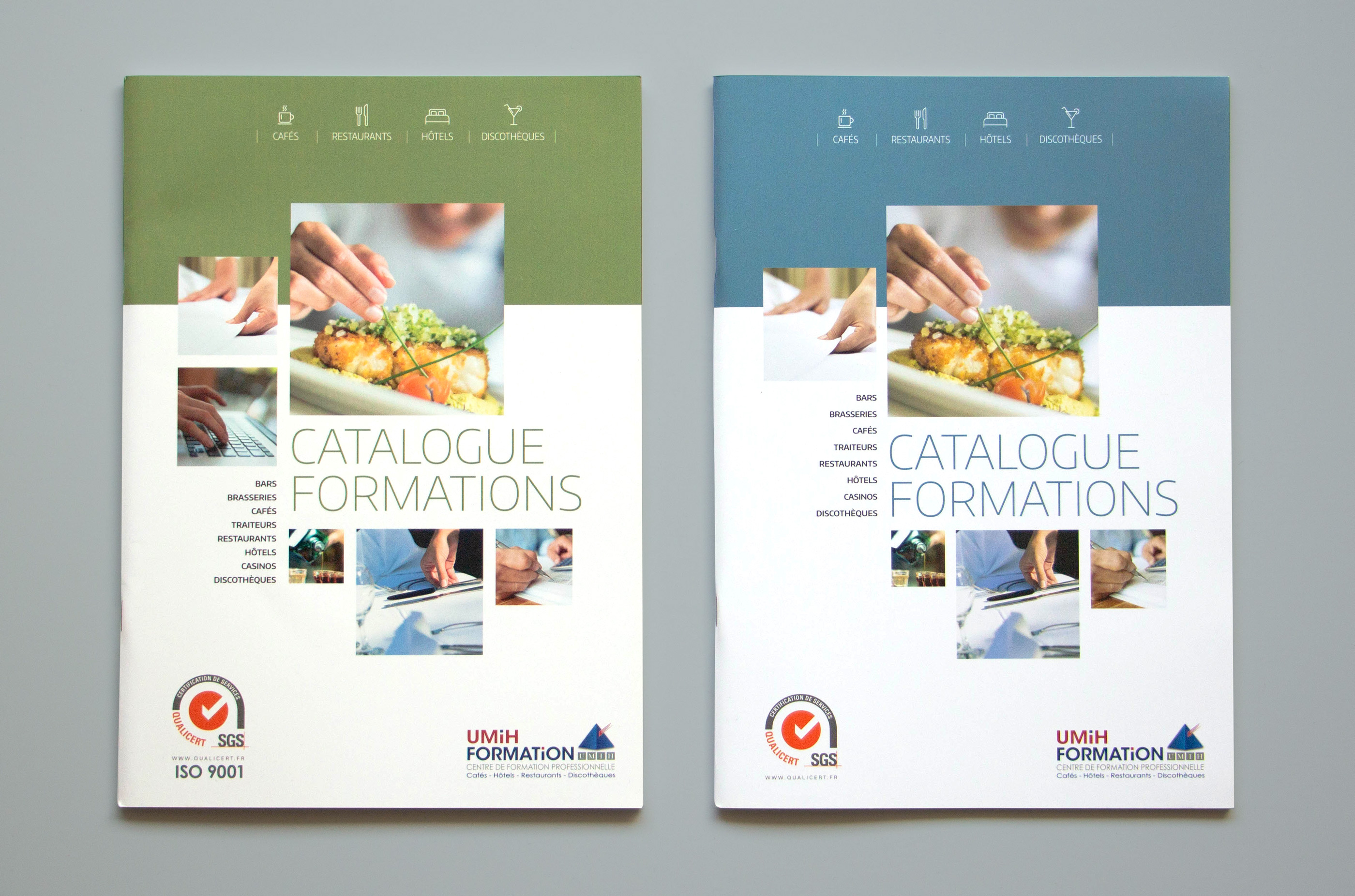 Photo des deux couvertures du catalogue UMIH formation