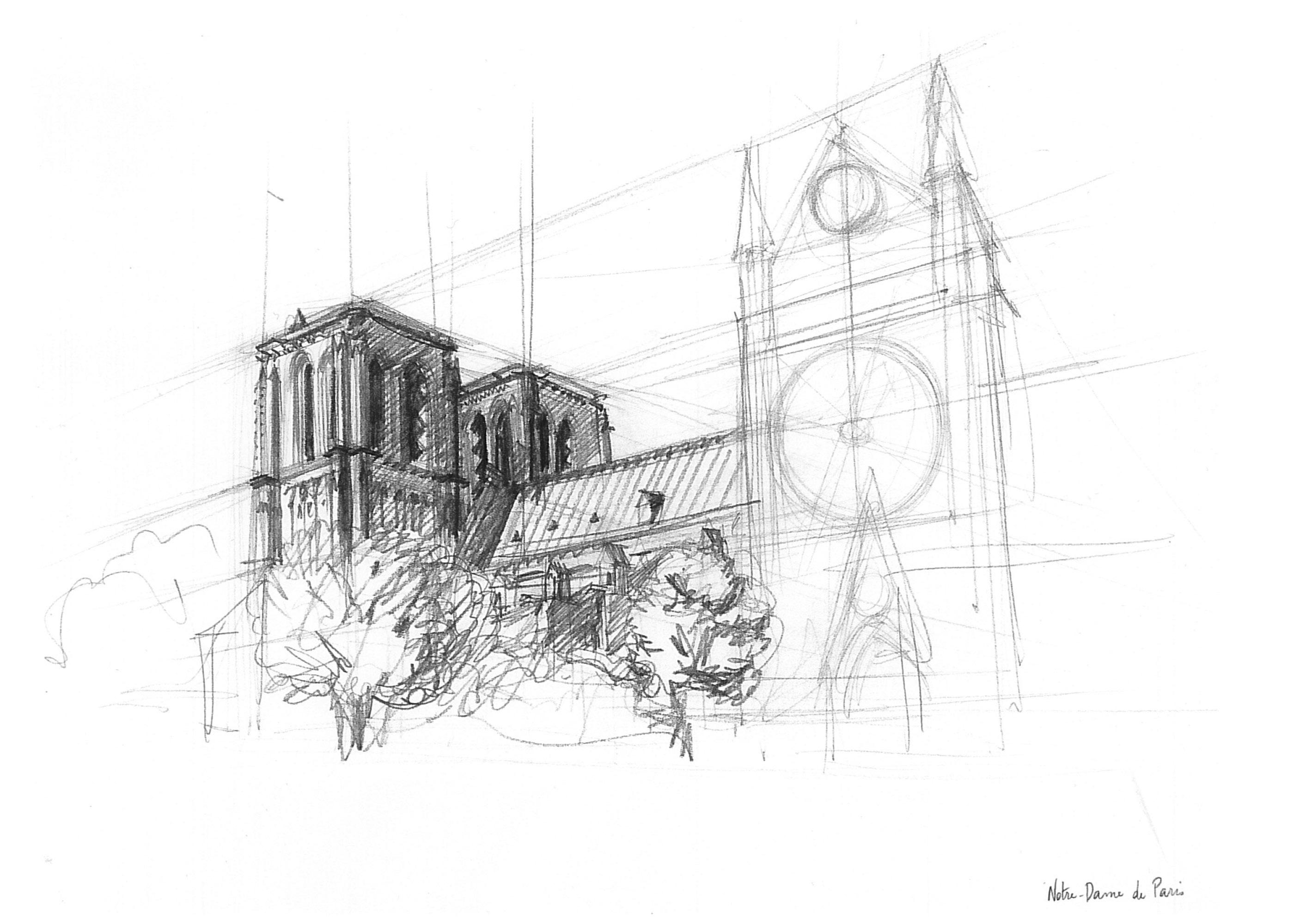 Croquis Notre Dame de Paris