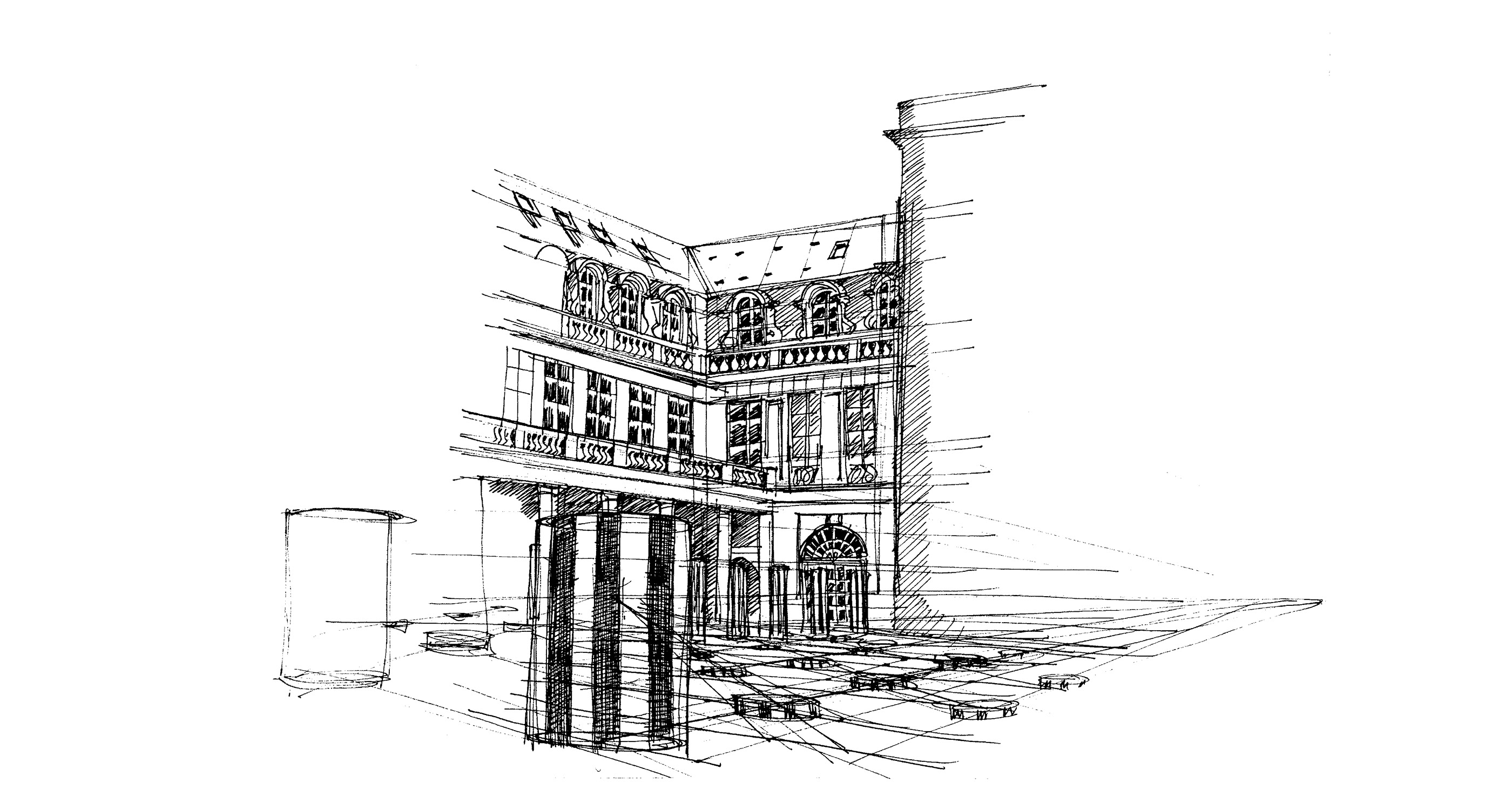Croquis colonne Buren
