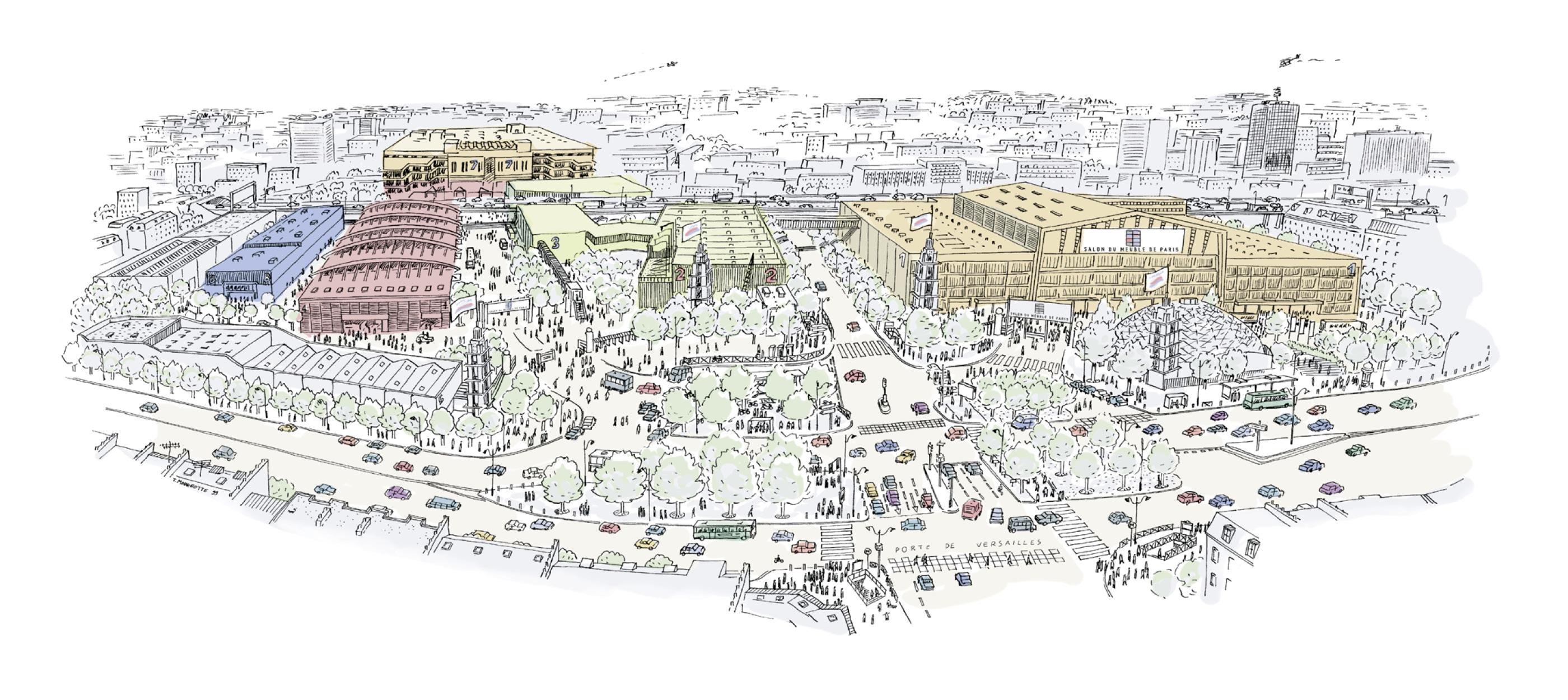 Dessin Paris Expo Porte de Versailles