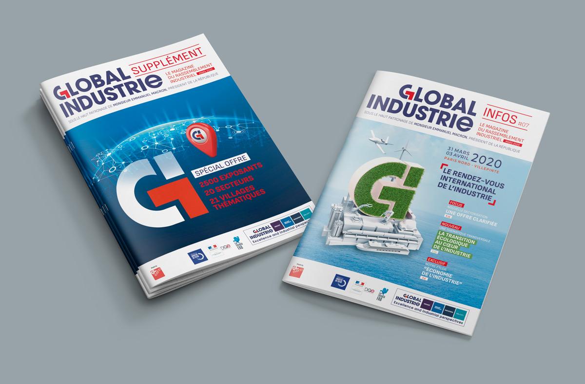 Global-Industrie couverture des deux magazines