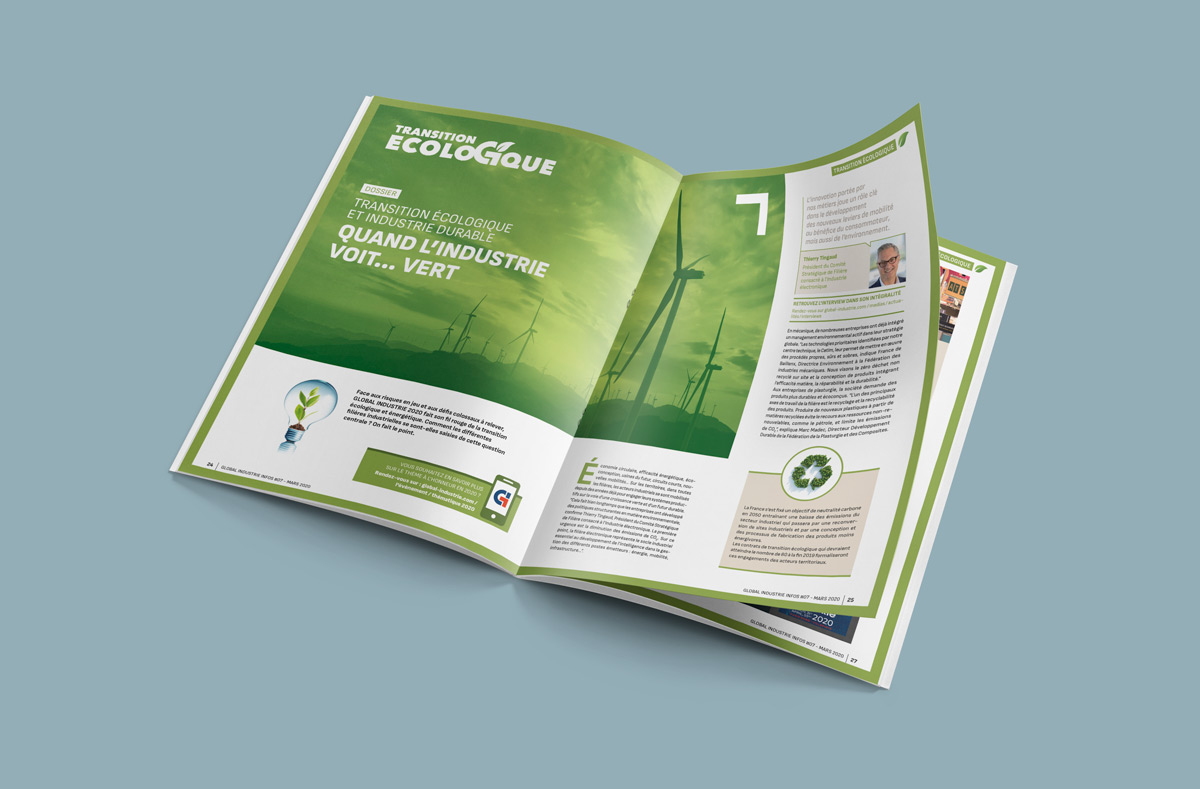 Global-Industrie - double page intérieur magazine