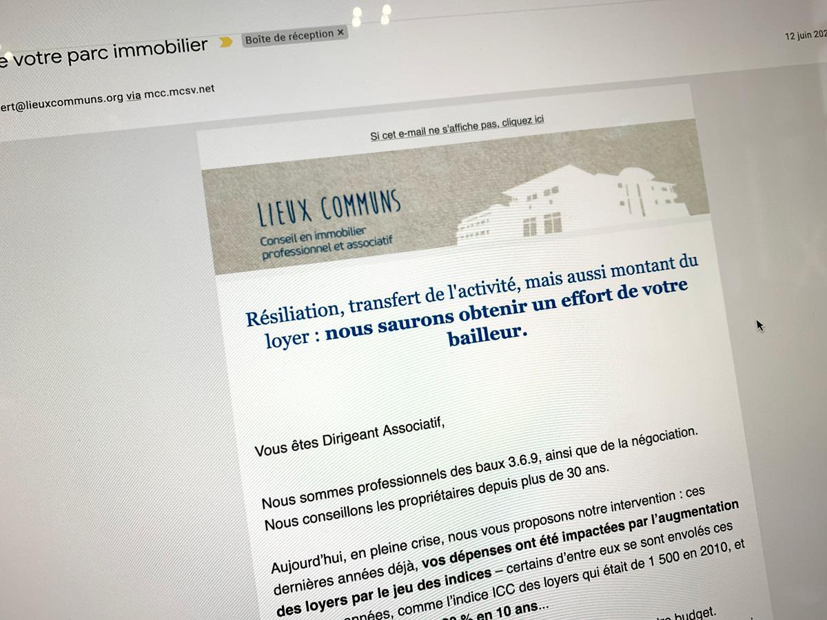 Lieux communs - emailing
